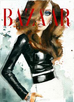 Harper's Bazaar, Covers | Marcela Gutiérrez  #illustration