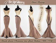 1957,`Diamond` Dress, Evening by Rushkovska, via Flickr Charles James