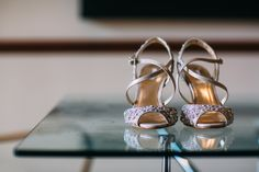 Linea House of Fraser Bridal Shoes - Albert Palmer Photography | Blush Wedding at Almonry Barn Somerset