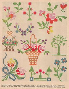 As promised, here are some terrific vintage cross stitch patterns free for your use -- enjoy!  These patterns came from my vintage pattern ...                                                                                                                                                                                 もっと見る