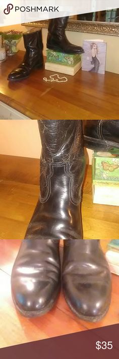 Spotted while shopping on Poshmark: Vintage leather western boots! #poshmark #fashion #shopping #style #Shoes