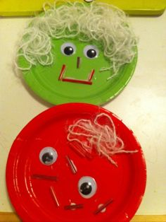 ART DAY FOUR - Paper Plate Face Two
