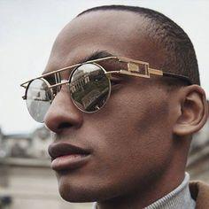 Metal Frame Gothic Steampunk Flat Top Round Sunglasses Coating Sun Glasses Women Vintage Retro Mirror Eyewear Men Reflective