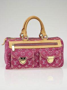 Louis Vuitton Fuchsia Denim Monogram Denim Neo Speedy Bag