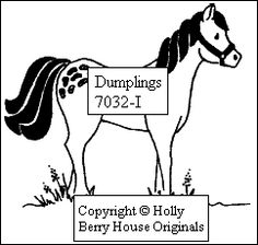 Horse rubber stamp image--designed by Kathryn Read at Holly Berry House Originals, Great for a barnyard scene or a birthday card for a Horse-Lover!!!
