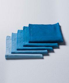 藍染めハンカチ(麻)
