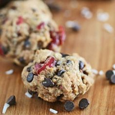 Cranberry Coconut Chocolate Chip Oatmeal Cookies, gluten-free and vegan