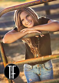 Love this idea for a senior picture it is country and rustic all in one love it:)