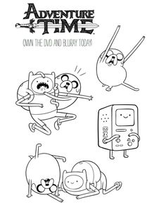 Cartoon Network Printable Adventure Time Coloring Page