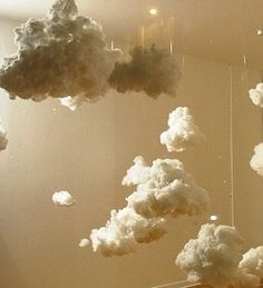 DIY Cloud Lamps. Final step for Bella's room...