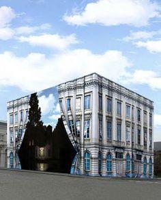 """ナカムラクニオ(6次元)さんはTwitterを使っています: """"ブリュッセルのマグリット美術館は、建物もシュール。夕方がすごい。 http://t.co/iSDgZExVuu"""""""