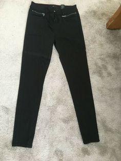 Next Ladies/Womens Black Trousers/Jeans Size 8 Regular Trouser Jeans, Black Trousers, Denim Skinny Jeans, Black Skinnies, High Jeans, Trousers Women, Cyan Magenta, Wet Look Leggings, Long Sleeve Tops
