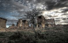 Pueblo fantasma de Belchite, Zaragoza [España].