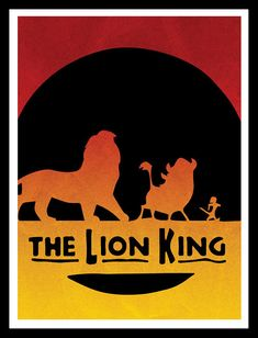 Hakuna Matata The Lion King / Disney Pixar Inspired by FADEGrafix