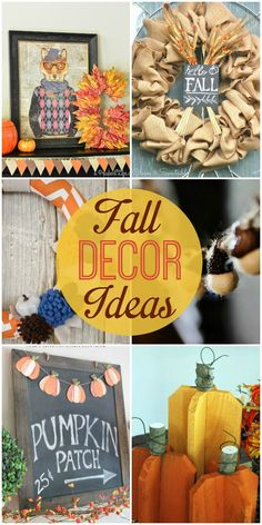 A roundup of fall decor ideas - check it out to get some inspiration for your own fall decor!! { lilluna.com }