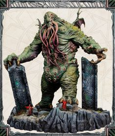 CMON is raising funds for Cthulhu: Death May Die on Kickstarter! Face the monsters and embrace your insanity so you may disrupt the ritual long enough to kill them! Minis, Cute Monsters, Cthulhu, Ink Painting, Dark Fantasy, Death, Fantasy Races, Angel, Cyberpunk