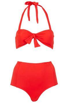 red high waist bikini