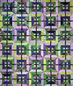 """Item No. 10397D - Stripped in Bali Pattern Download - $9.00 - This quilt is tons of fun and a pure delight to the eyes. Just one packet or two, depending upon quilt size, of those gorgeous Bali Pops, Tonga Treats, Strip Packs or any other 2-1/2"""" strips of Batik fabric.  Fabric Requirements Wall/Crib 40 - 2-1/2"""" strips 3/8 yard - binding 2-1/2 yards - backing Lap 80 - 2-1/2"""" strips 5/8 yard - binding 3-3/4 yards - backing  Wall/Crib 36"""" x 48"""", Lap 60"""" x 72"""""""