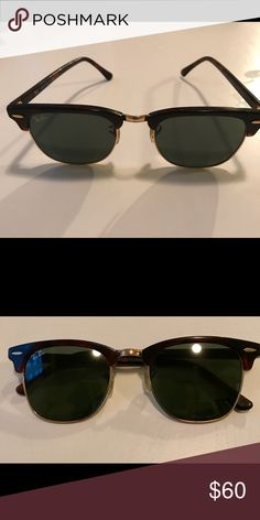 RayBan club-master dark brown sunglasses Previously worn Ray-Ban club master shades, wide fit, no case Ray-Ban Accessories Sunglasses