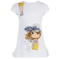 Monnalisa Girl Print Tee Dress