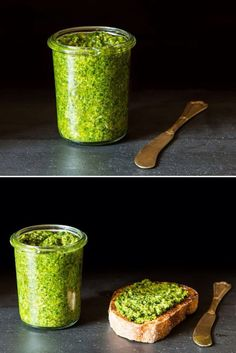 Simple Vegan Pesto. This pesto is so good, you'll never notice that it's dairy-free! Nutritional yeast adds cheesy flavor. Serve this in sandwiches, with pasta, or as a topping for thickly sliced heirloom tomatoes. Gluten free