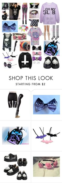 """""""✞ pastel goth ✞"""" by gonzaloqroz ❤ liked on Polyvore featuring Bodyline, Retrò and pastelgoth"""