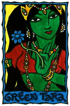 A-Muse-ing Grace Gallery: The Magical Art of Thalia Took - Green Tara, Bodhisattva of Compassion