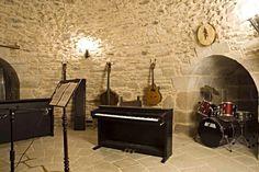 Music Room on Ground Level   Medieval Castle de Montbrun, Dournazac, Haute-Vienne, France