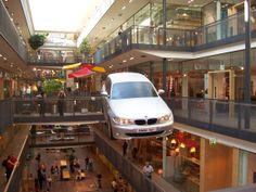 Radio controlled BMW 1 on promotion tour in shopping centre
