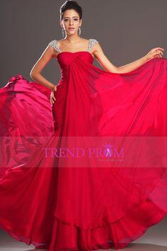 Hot Selling Prom Dresses Mermaid Regular Straps Chiffon Beadings