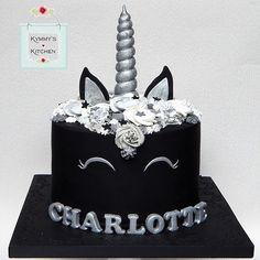 puppy unicorn cake ~ puppy unicorn cake , puppy and unicorn cake , unicorn puppy birthday cake Pretty Cakes, Cute Cakes, Beautiful Cakes, Unicorn Birthday Parties, Unicorn Party, Birthday Ideas, Black Unicorn Cake, Unicorn Cakes, Puppy Birthday Cakes