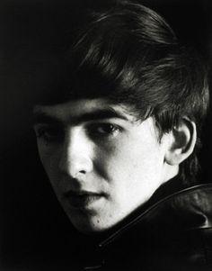 George Harrison, Hamburg, Black Portrait 1,   1962 by Astrid Kirchherr