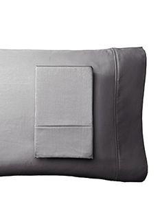 Westport Linens Set of 2 Wrinkle Free Standard Pillowcases, Platinum