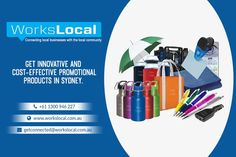 Get innovative and cost-effective promotional products from Sydney, Australia. Workslocal offers high-quality promotional gift items, corporate promotional gifts, and custom branded items and more. Our goal is to satisfy our customers with the right product and guarantee. You can order the promotional products is online and free home delivery is available. You can call us at 1300946227.
