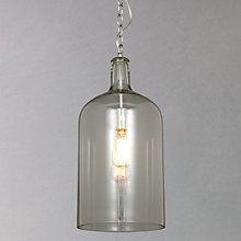 Buy John Lewis Croft Collection William Bottle Glass Pendant Online at johnlewis.com