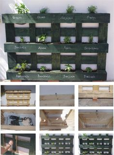 Pallet Herb Garden - for retaining wall in back yard? http://bigideamastermind.com/newmarketingidea?id=moemoney24