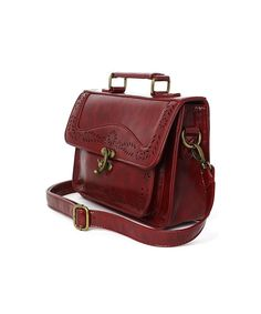 Wine Vintage Satchel Bag with Cut Out Detail CHICWISH LIMITED