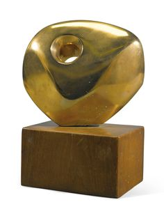 Barbara Hepworth PIERCED ROUND FORM numbered 7/10 bronze height: 22.4cm. (including base) Conceived in 1959 and cast in bronze by the St Just Foundry in an edition of 10; this version cast in 1959-60.