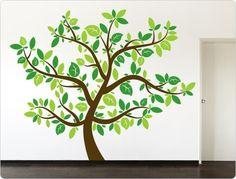 Farbkombination ♥ Wandtattoo Baum (dreifarbig) ♥ N11489 von I-love-Wandtattoo auf DaWanda.com