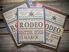 Cowboy Rodeo Birthday  DIGITAL FILE by themodishmanor on Etsy, $10.00 Rodeo Birthday, Boy Birthday, Birthday Ideas, Birthday Parties, Time To Celebrate, Triplets, Hunters, Party Ideas, Digital