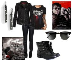 """""""Inspired by: We Only Come Out at Night -Motionless In White and The Lost Boys"""" by iamamagesticunicorn on Polyvore"""