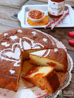 How to make a soft cake with jam Cheesecakes, Superfoods, Italian Recipes, Sweet Recipes, Sweet Tooth, French Toast, Vanilla, Muffin, Food And Drink