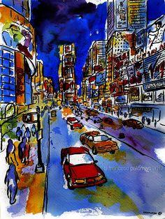 """Times Sq./Broadway - NYC"" * (46x32,5 cm.) · by Francesc Palomas"