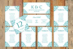 Wedding Seating Chart Template  Download by DiyWeddingTemplates, $20.00