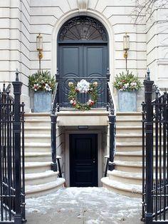 Stone and Ironwork Front Door