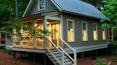 Tiny Homes with Tiny Porches, Small Houses -for more- http://www.howtobuildahouseblog.com/