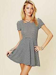 stripes brunch dress