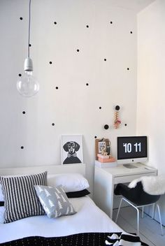 Monochrome interiors.