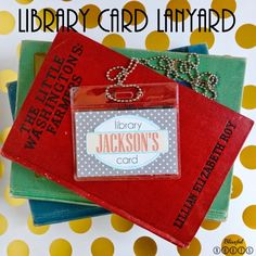 Library Card Lanyard