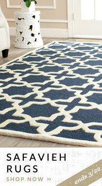 Love the graphic design.  Would add a pop of color anywhere. Safavieh rug.